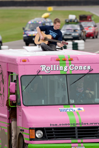 Rolling Cones and their famous pink ice-cream truck